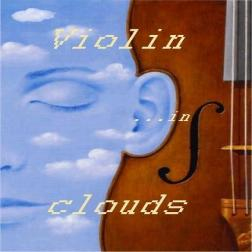 Violin in clouds