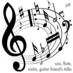 sax, flute, violin, guitar friend's talks